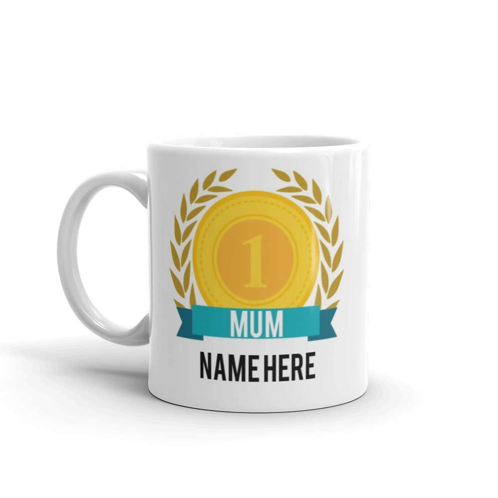 World's Number One Mum Gift Mug Personalised Name Family Best Mother Tea 1 New - Riviera Mugs