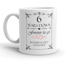 Personalised 6th Wedding Anniversary Gift Mug - Riviera Mugs