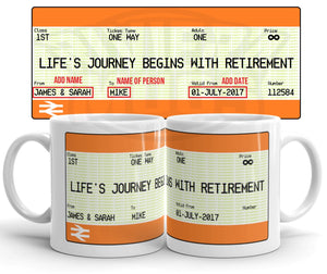 Personalised Retirement Gift Mug - Riviera Mugs