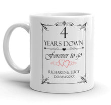 Personalised 4th Wedding Anniversary Gift Mug - Riviera Mugs