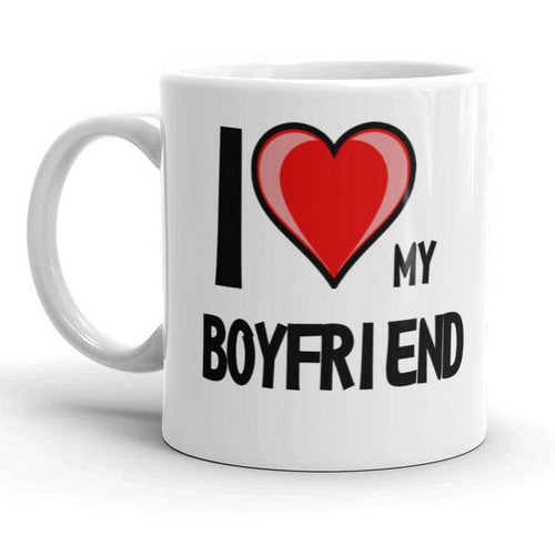 I Love Heart My Boyfriend Gift Mug