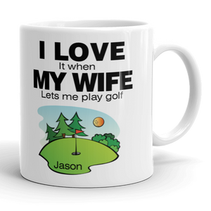 Personalised Golfers Mug Cup Birthday Gift Idea Present Any Name Funny Golf New