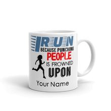 I Run Funny Punching People Gift Mug