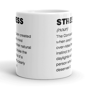 Funny Stress Definition Mug Sarcastic Humour Rude Stressful Work Coffee Tea Gift