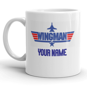 Personalised Wing Man Gift Mug