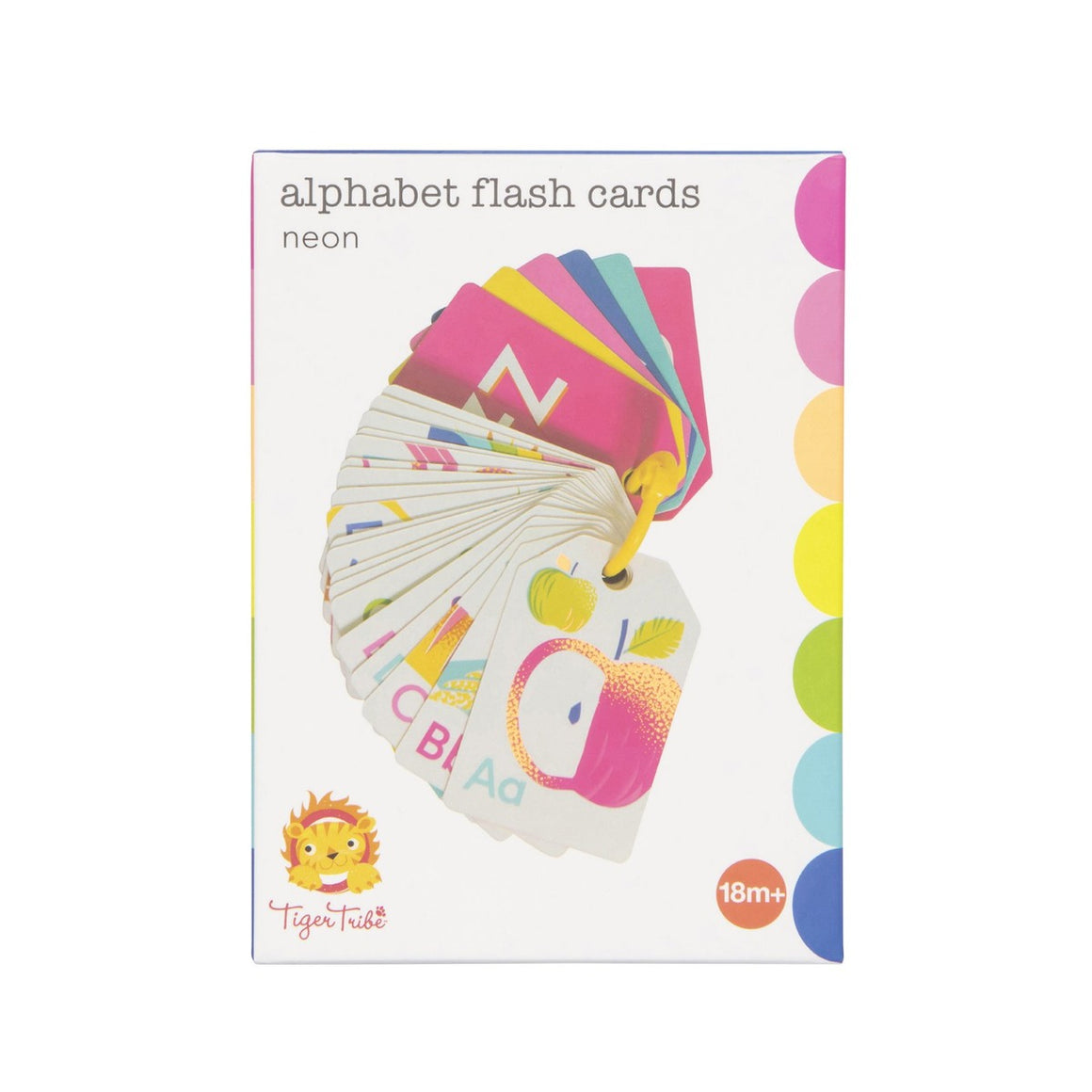Alphabet Flash Cards Neon