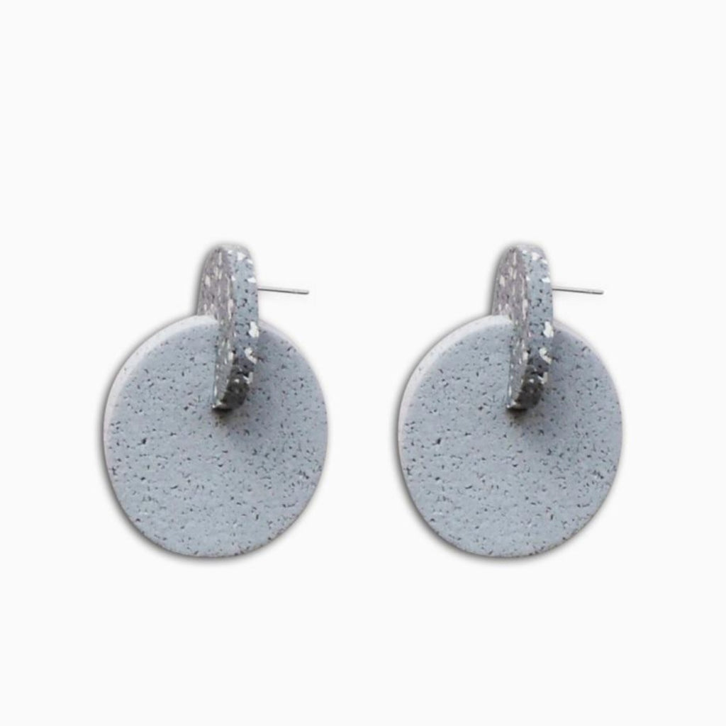 Two Earrings featuring butterfly stud backing and grey colour