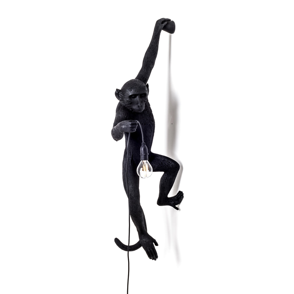 Monkey Lamp Hanging Black