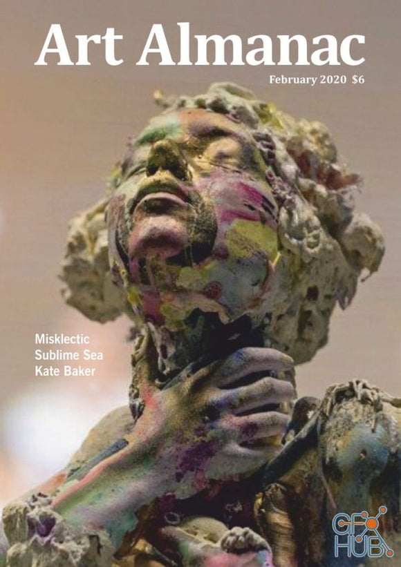 Magazine Cover featuring Issue February 2020 Art Almanac