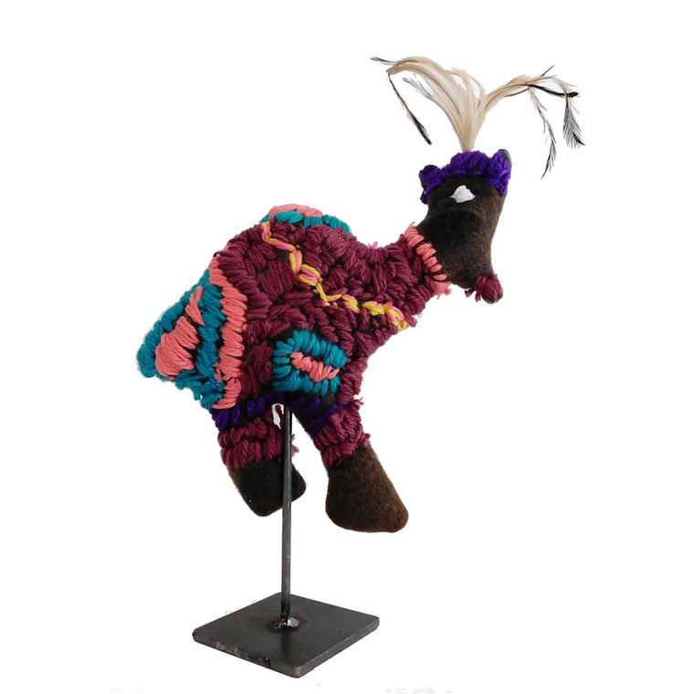 Soft Sculpture | Bird with Purple Crown by Trudy Inkamala | Yarrenyty Arltere Artists