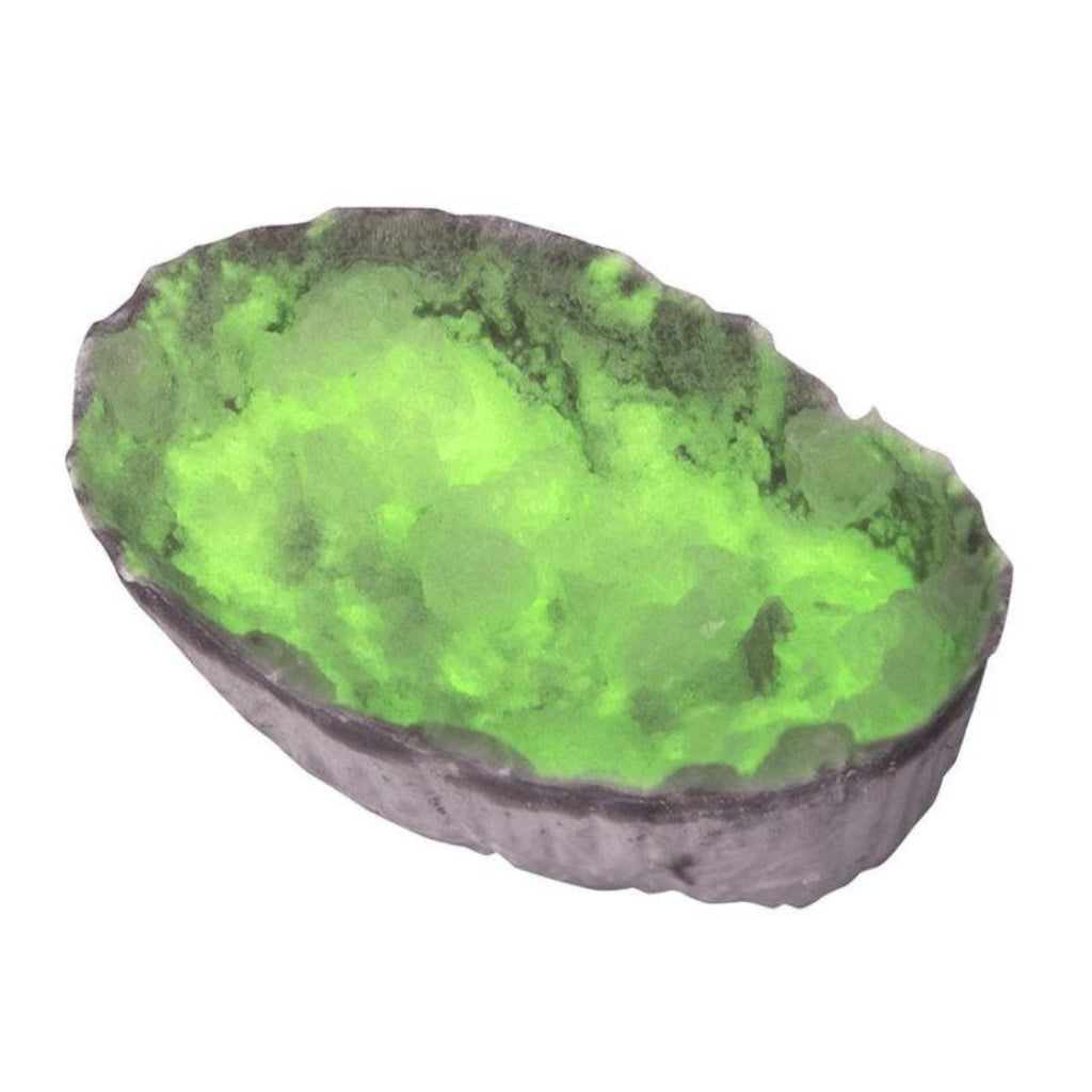 Image of one of the final results of the crystals in green