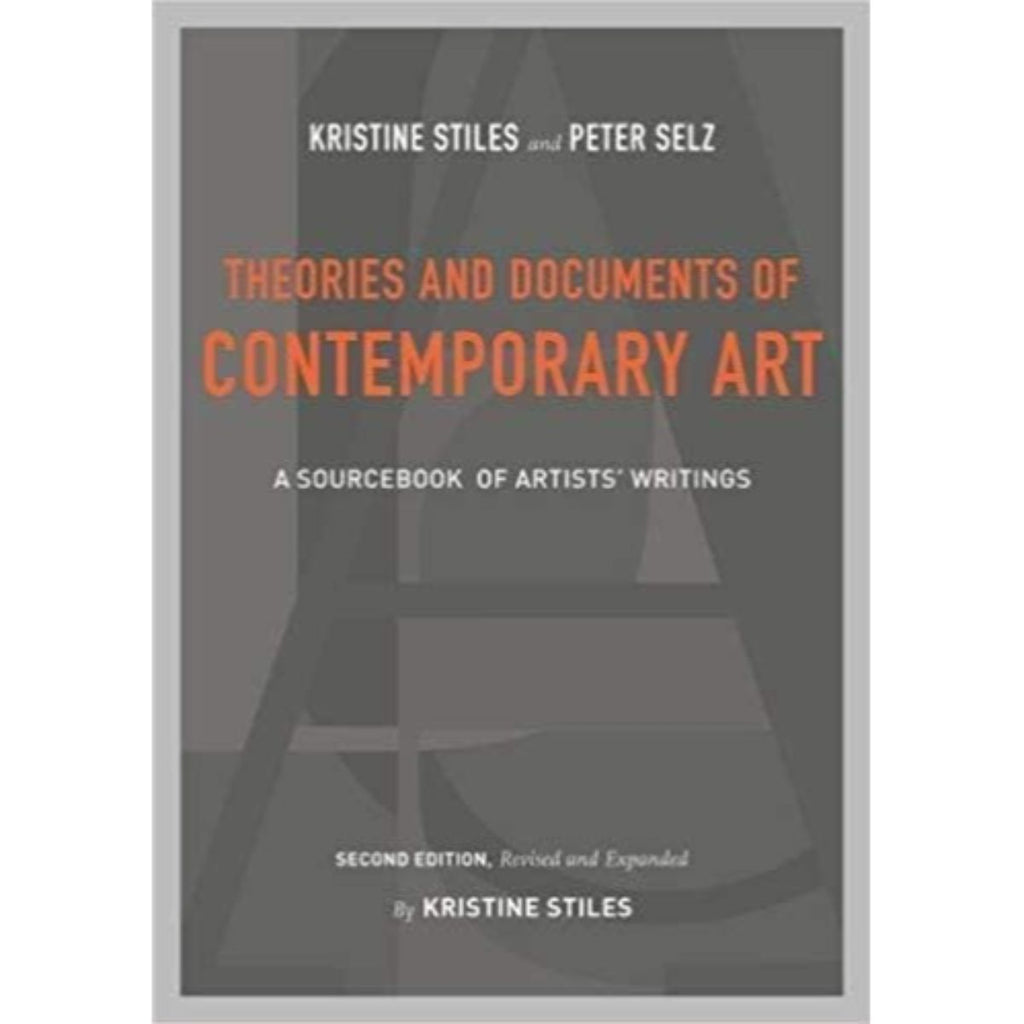 Book featuring cover art of Theories and Documents of Contemporary Art