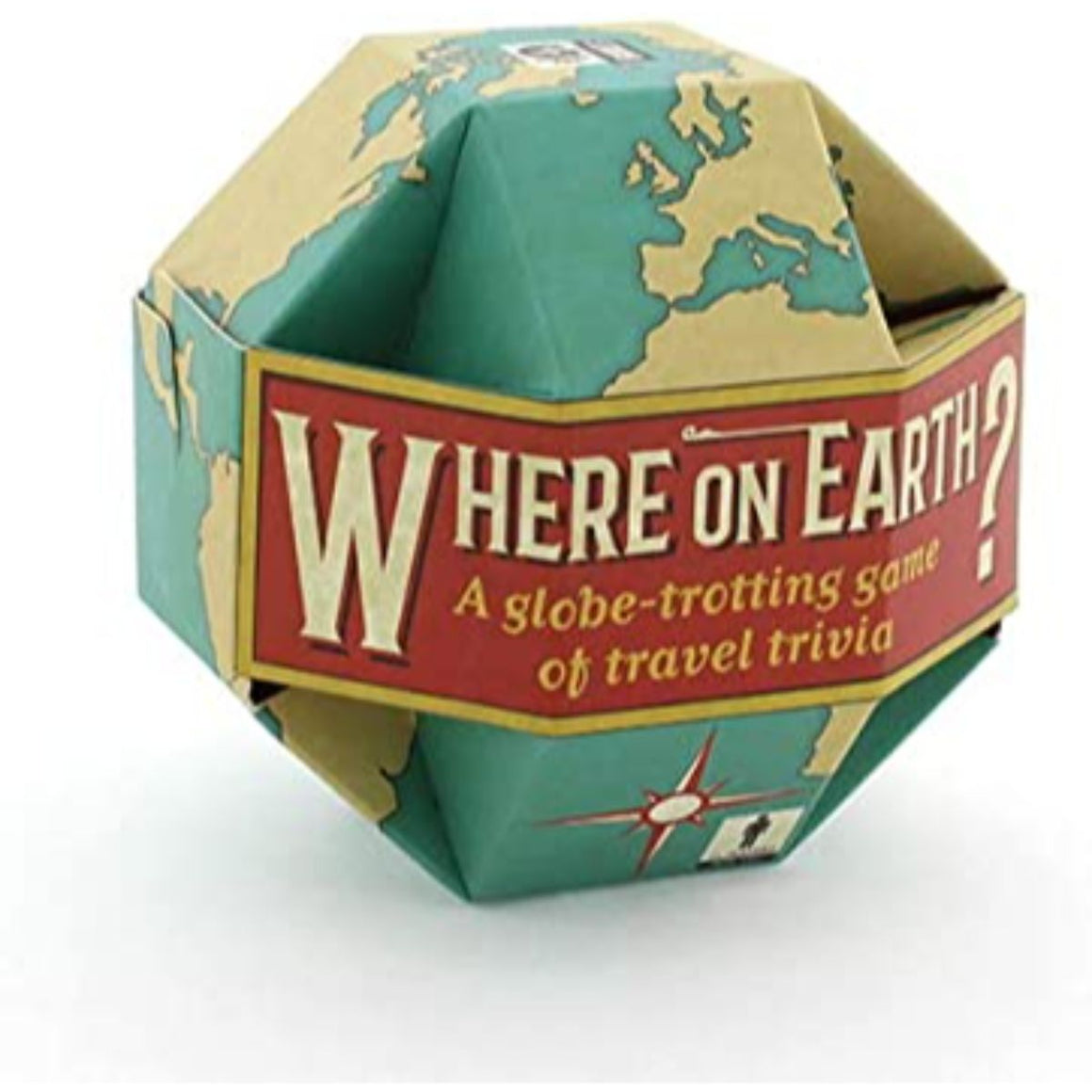 Where on Earth? Trivia packaging featuring a unique shaped globe