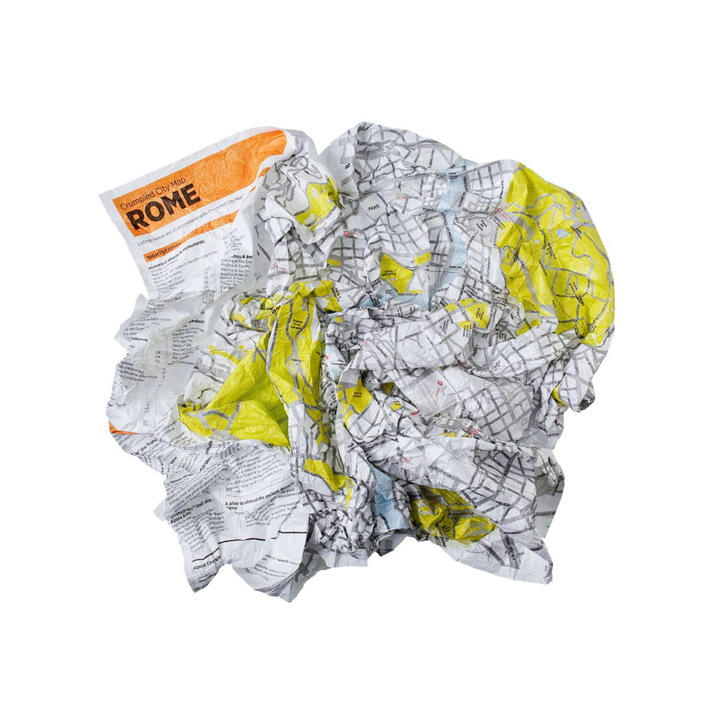 Crumpled Map featuring Rome City