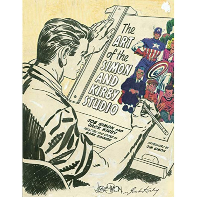 Book featuring cover art of The Art of the Simon and Kirby Studio
