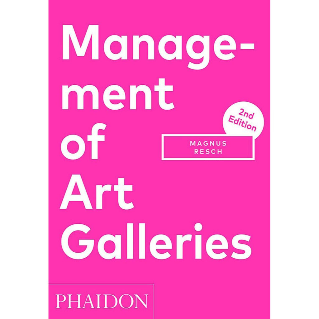Book featuring cover art of Management of Art Galleries