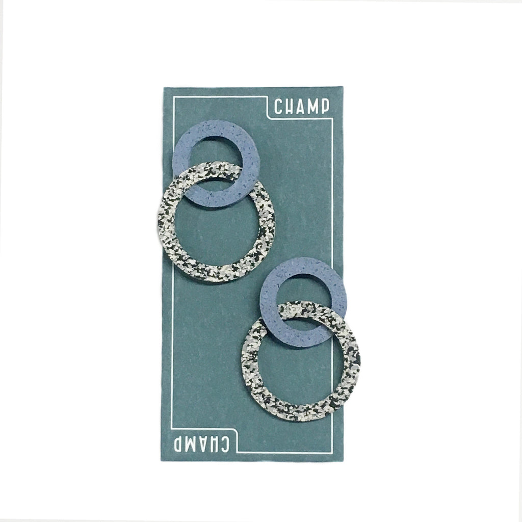 Earrings Figure 8 - Grey & Blue