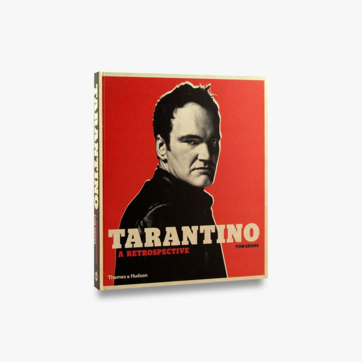 Book featuring cover art of Tarantino A Retrospective