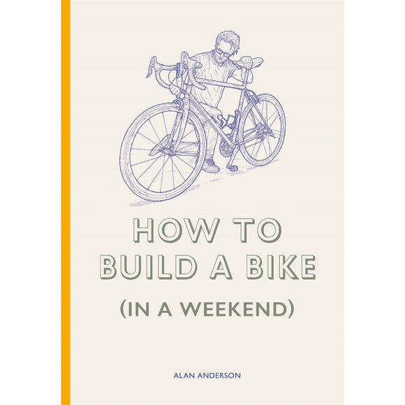 Image of a book cover featuring a blue illustration of a man holding a bike on a yellow background