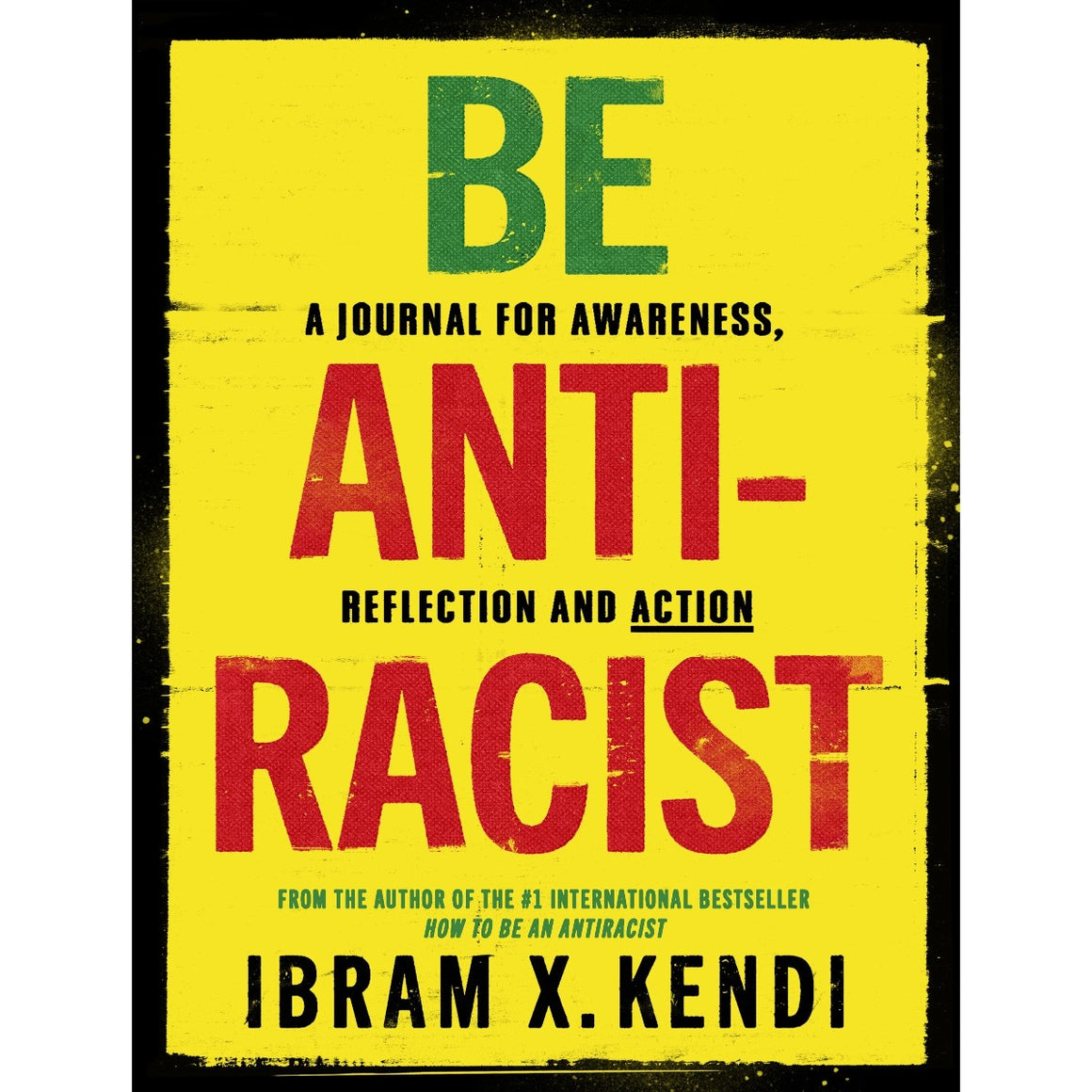 A book cover in yellow with black red and green type.