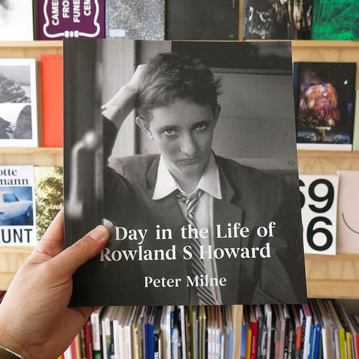 A book cover featuring a cover photo of musician Rowland S Howard