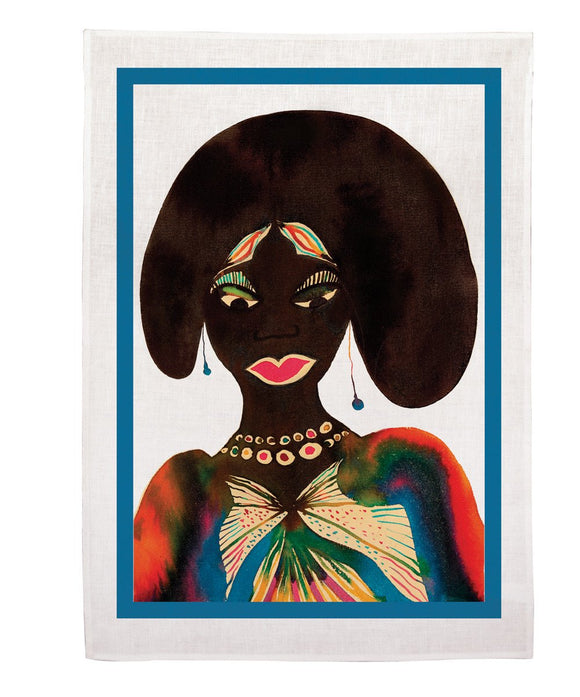Tea Towel - Afromuses Couple x Chris Ofili