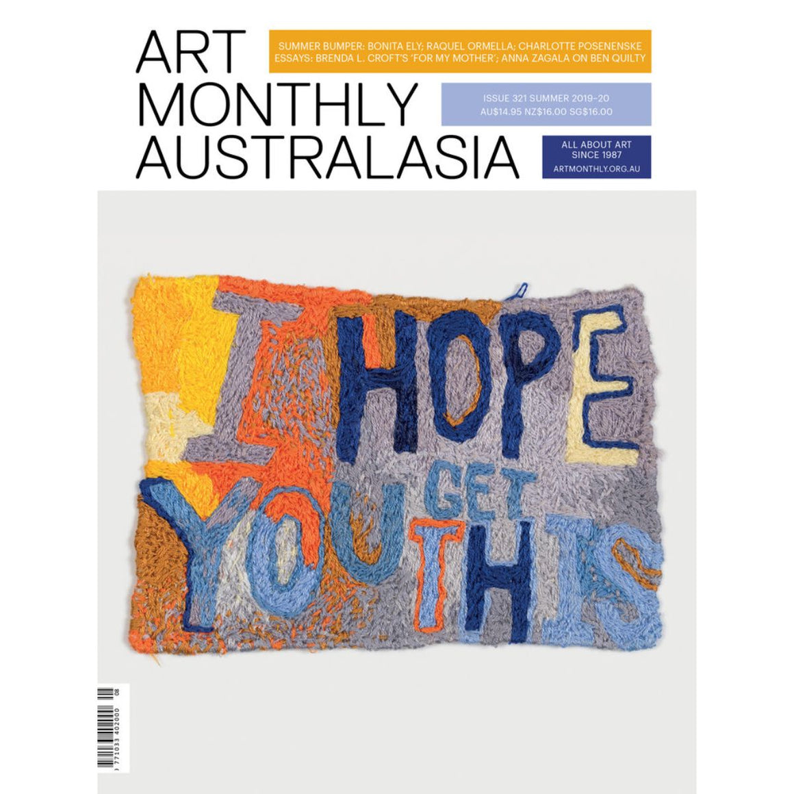 Magazine Cover featuring Issue 321 Summer 2020 Art Monthly Magazine