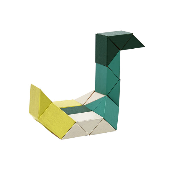 Snake Blocks Yellow/Green Small