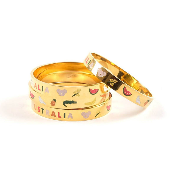 Bangle Australia Icons Gold