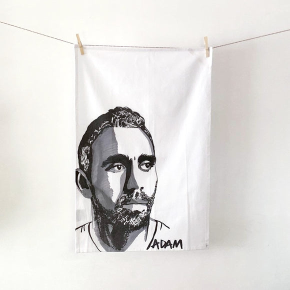 Tea towel | organic cotton | Adam Goodes