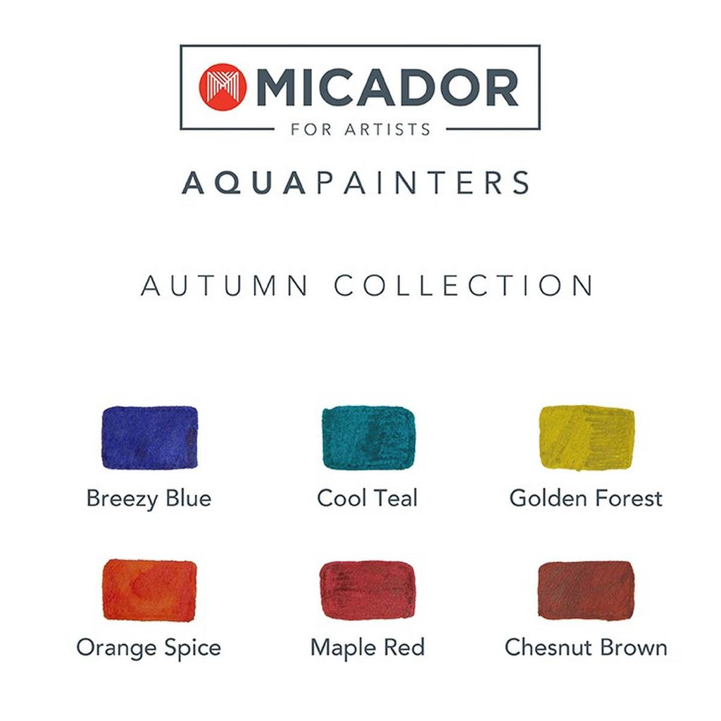 Artist Paint Markers | AquaPainters Autumn Colours | Set of 6