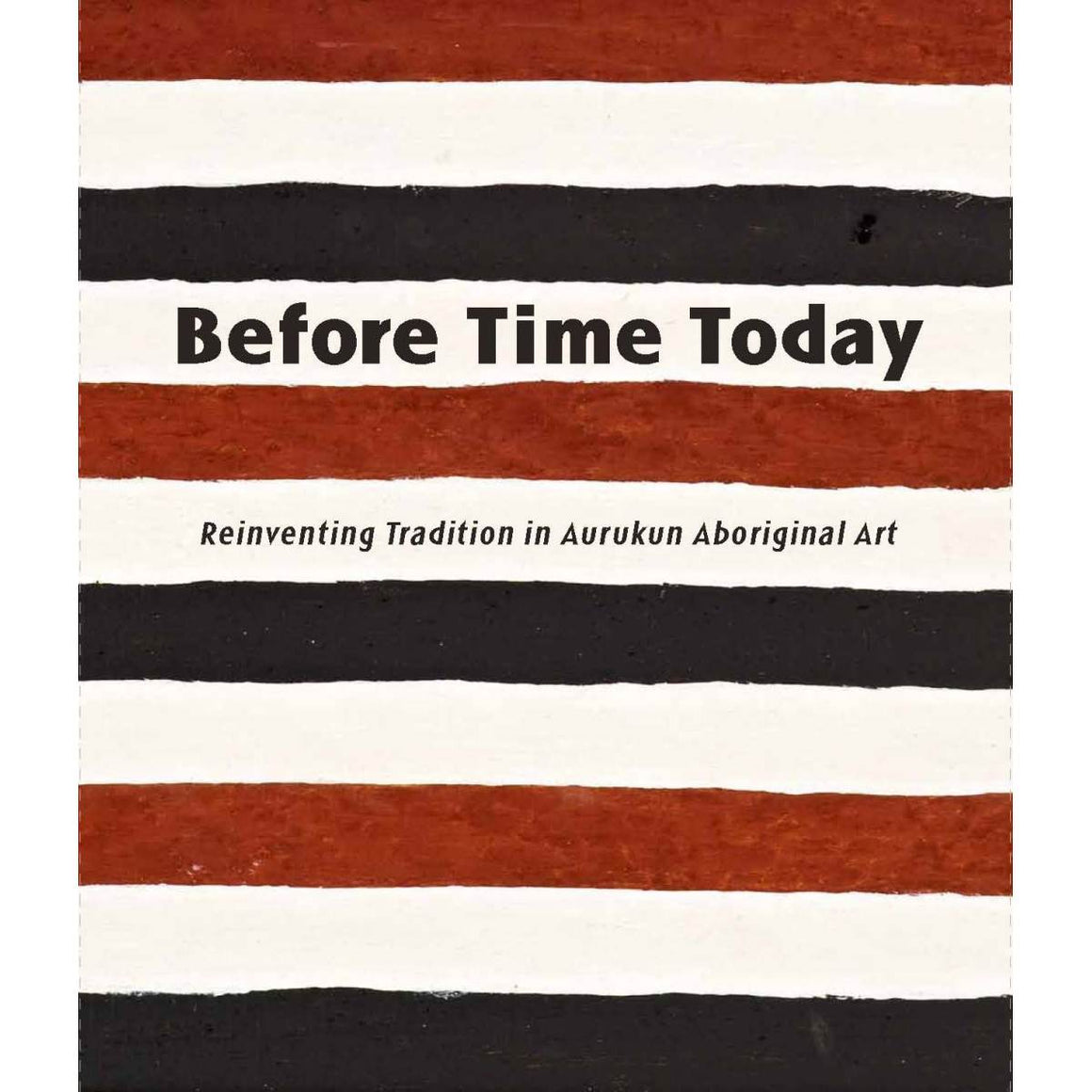 A book cover with a Aboriginal cover art. Brown, white and black stripes