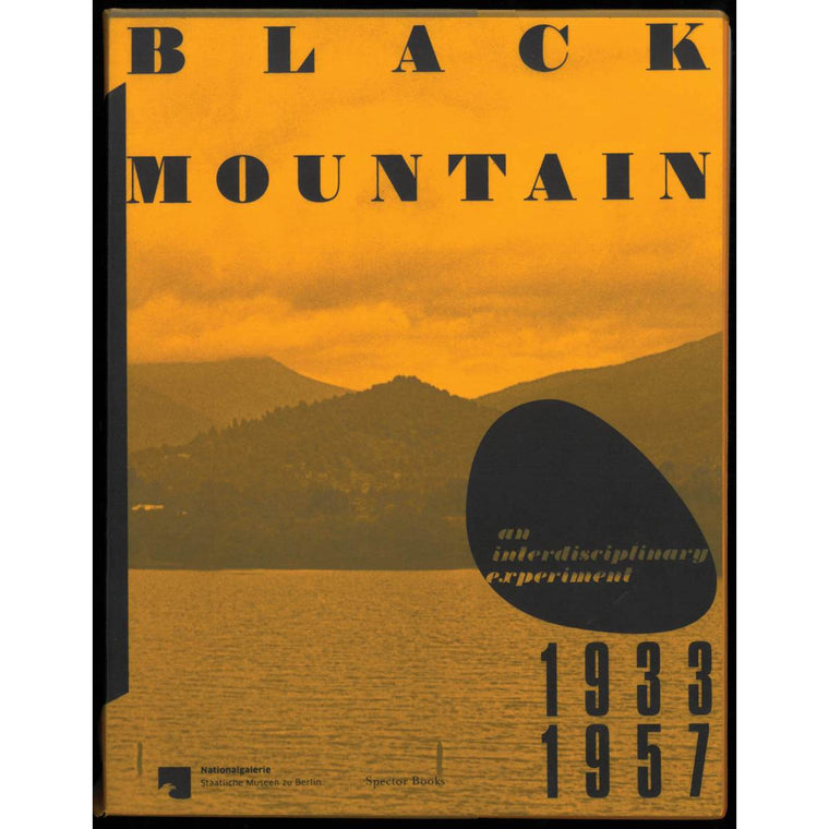 A book cover featuring an orange tones photograph of Black Mountain behind a body of water.