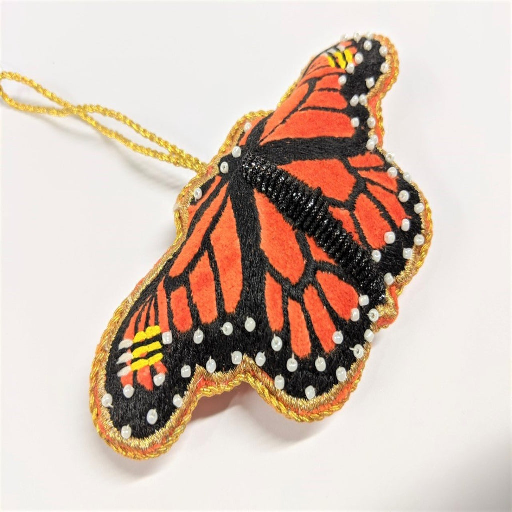 Decoration | Velvet | Monarch Butterfly