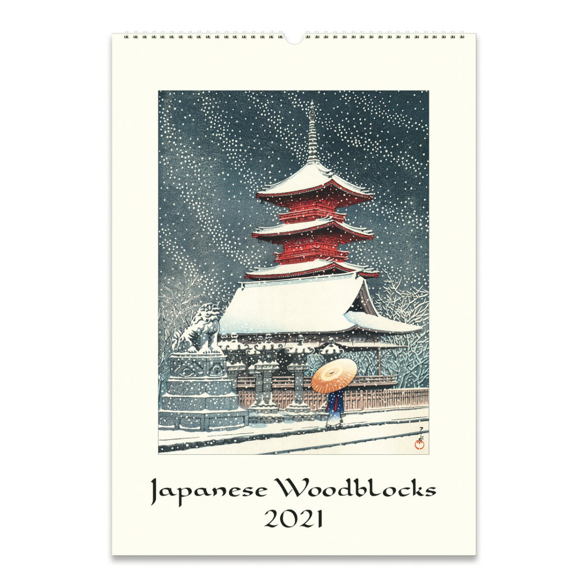 A 2021 Wall calendar featuring Japanese Woodblock image in bold colours.