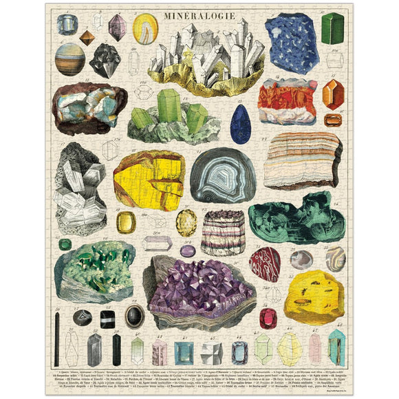 Puzzle | Vintage Mineralogy Crystal Chart | 1000 Pieces