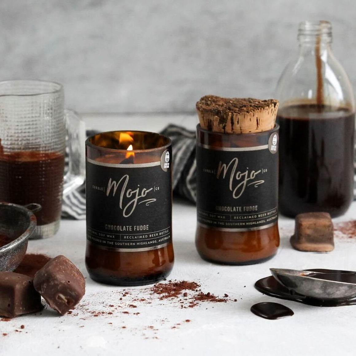 Reclaimed Beer Bottle Candle | Chocolate Fudge Easter Limited Edition