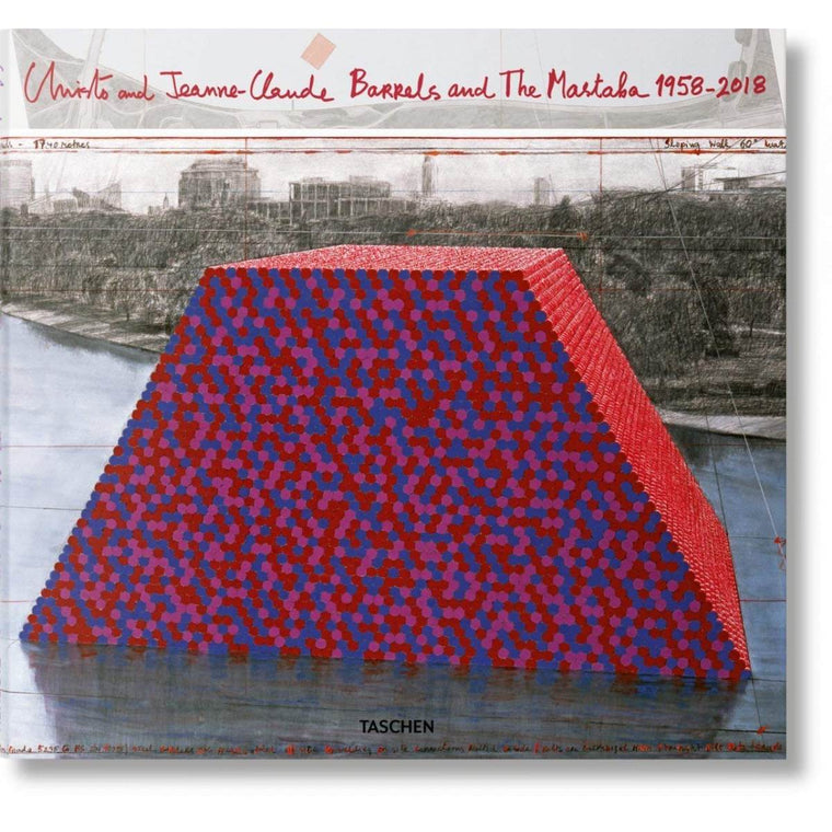 Book featuring cover art of Christo and Jeanne-Claude: Barrels and The Mastaba