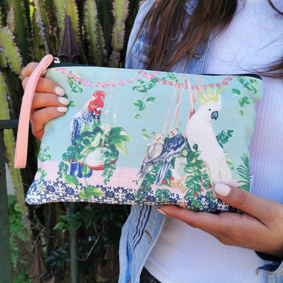 Clutch Purse | Tropical Abode Birds