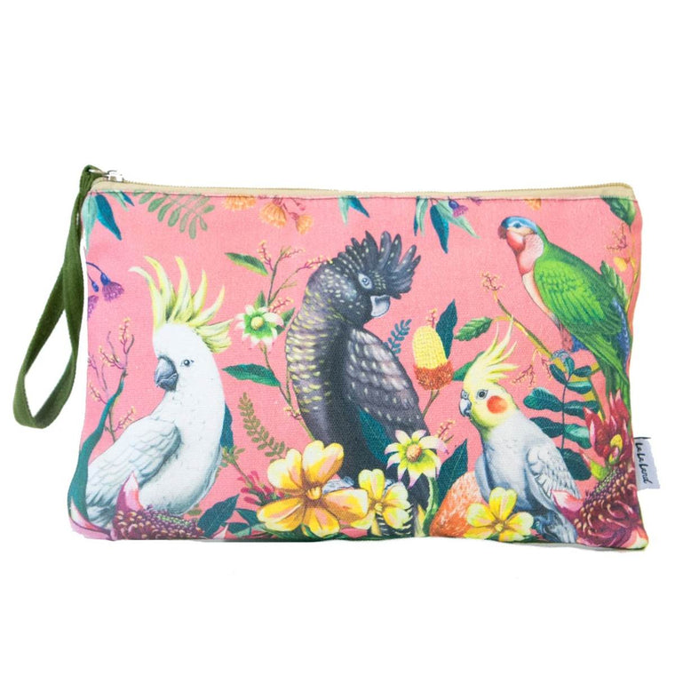Clutch Purse | Floral Paradiso Birds