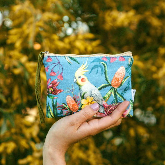Coin Purse | Floral Paradiso Cockatiel