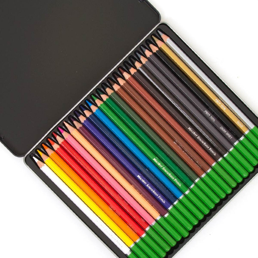 Coloured Pencils ColourRush | Tin of 24