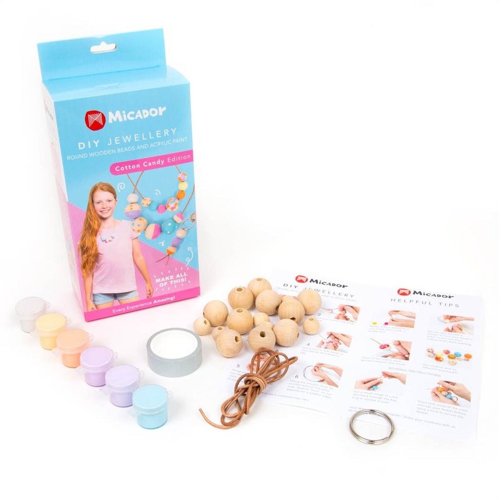 DIY Painted Bead Jewellery Kit | Cotton Candy Colours