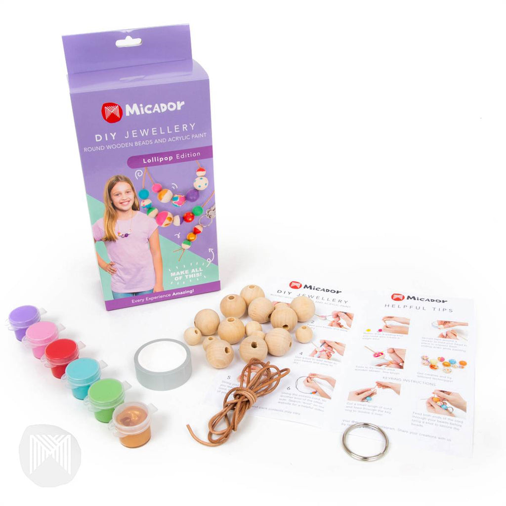 DIY Painted Bead Jewellery Kit | Lollipop Colours