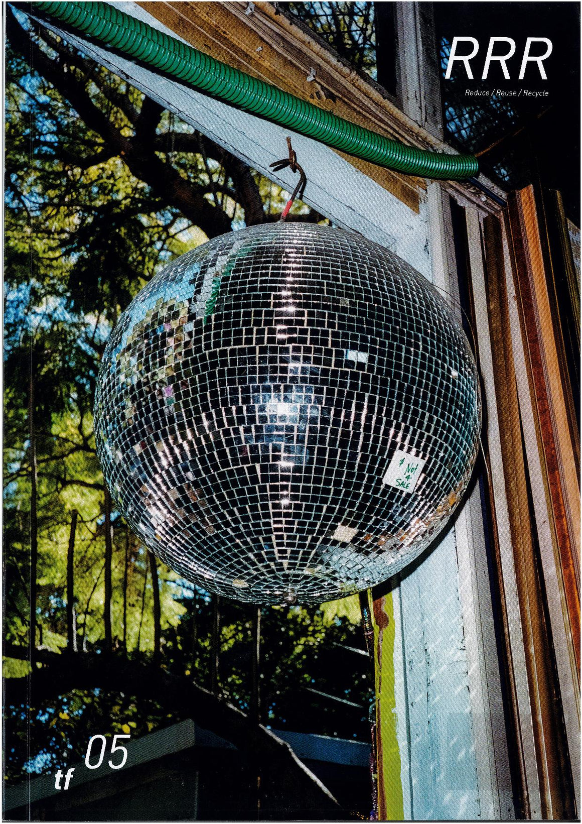 Magazine cover from Terra Firma Magazine featuring a photograph of a disco ball