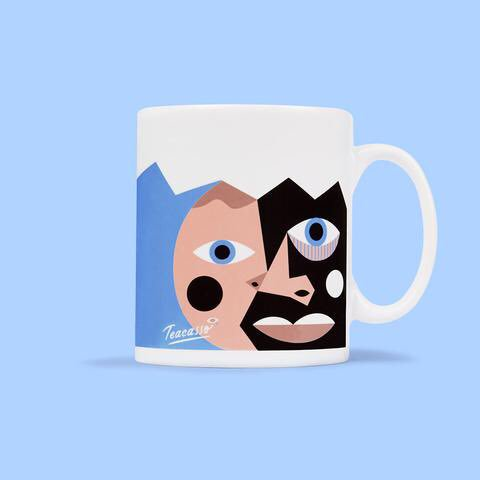 Mug featuring an illustration of artist Pablo Picasso