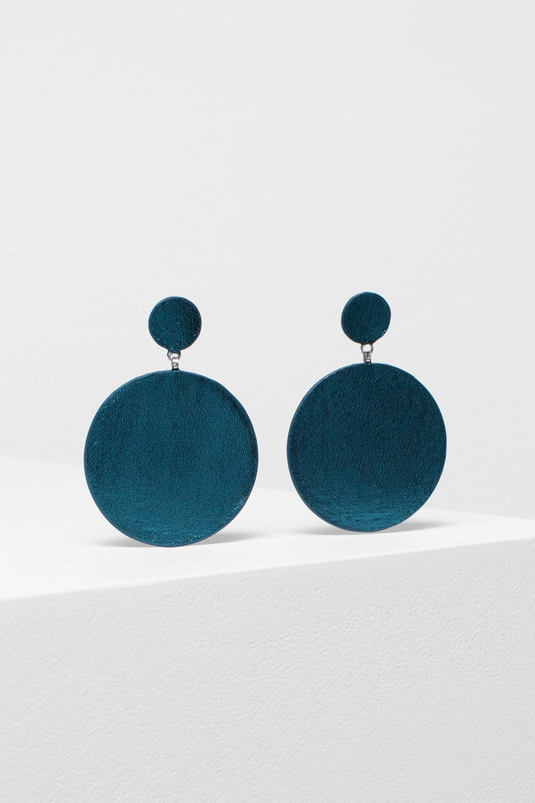 Earrings Salla Deep Turquoise Blue