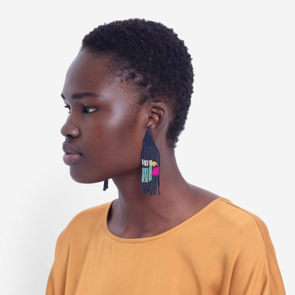 Earrings | Malou | SS20 | Navy Blue