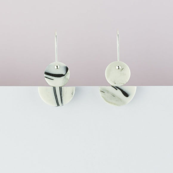 Earrings Floats Marble