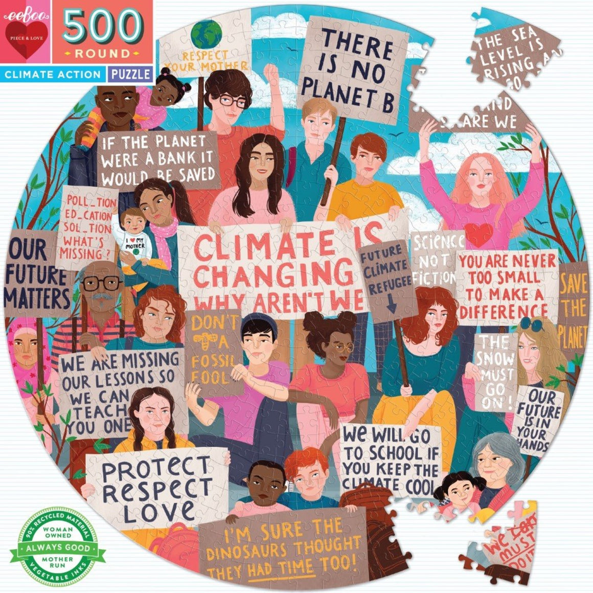 Puzzle | Round | Climate Action | 500 Pieces